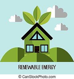 desenho, energia, renovável