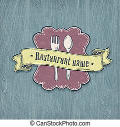desenho, eps10., vetorial, template., restaurante