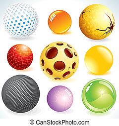 desenho, esferas