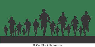 desenho, exército