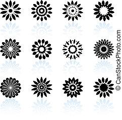 desenho, floral, cobrança