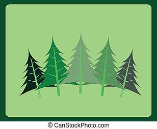desenho, floresta