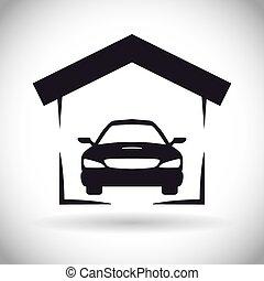 desenho, garagem