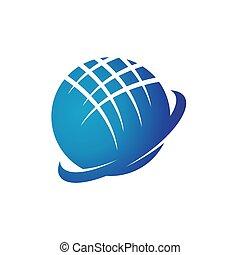 desenho, globo, negócio, global, logotipo, internacional, tecnologia, tech