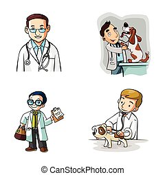 desenho, ilustração, doutor