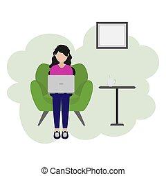 desenho, ilustração, profissão, freelance