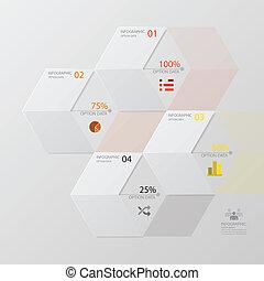desenho, infographic, modernos, seta, modelo