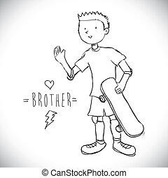 desenho, irmão