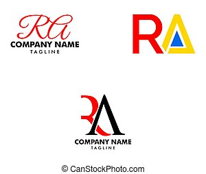 desenho, modelo, inicial, letra, logotipo, jogo, ra