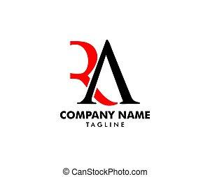 desenho, modelo, inicial, letra, logotipo, ra