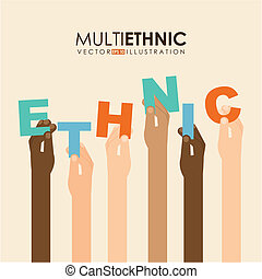 desenho, multiethnic