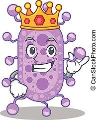 desenho, mycobacterium, mascote, sábio, rei, estilo