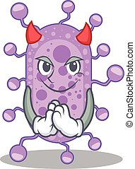 desenho, mycobacterium, personagem, caricatura, diabo, vestido, estilo
