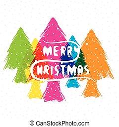 desenho, natal, feliz, saudação