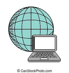 desenho, negócio, online