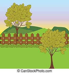 desenho, paisagem