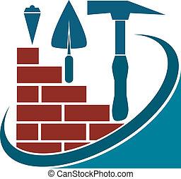desenho, para, a, construção