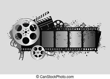 desenho, película, relatado