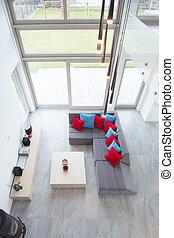 desenho, quarto moderno, luxo