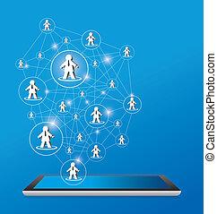 desenho, rede, social