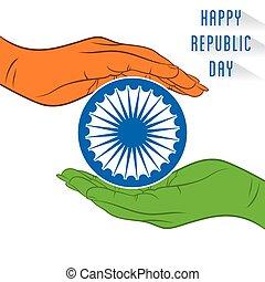 desenho, república, bandeira, dia, feliz