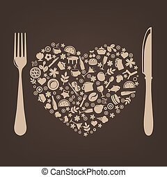 desenho, restaurante