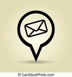 desenho, símbolo, envelope, isolado, ícone