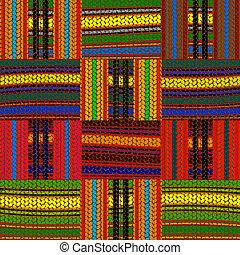desenho, seamless, africano
