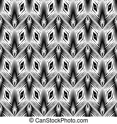 desenho, seamless, monocromático, padrão geométrico