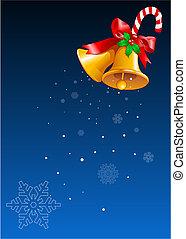 desenho, sinos natal