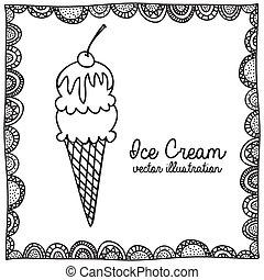desenho, sorvete