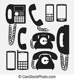 desenho, telefone
