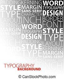 desenho, tipografia, fundo