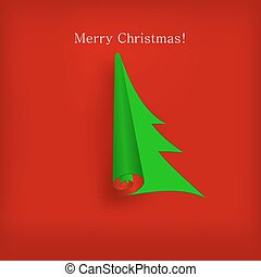 desenho, vetorial, árvore, seu, natal