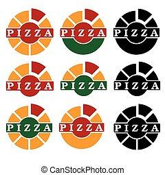 desenho, vetorial, jogo, modelo, pizza