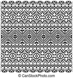 desenho, vetorial, pretas, branca, arabescos, padrão, fundo, tradicional, seamless, cor
