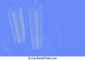 desenhos, arquitetônico