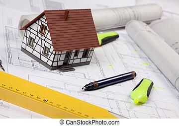 desenhos técnicos, ferramentas, arquitetura