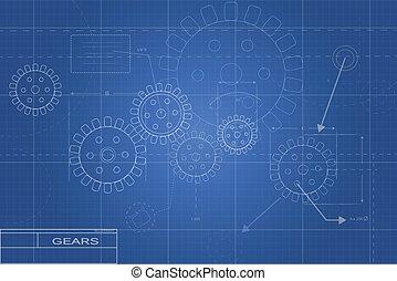 desenhos técnicos, ilustração