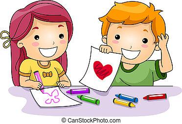 desenhos, valentine