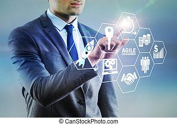 desenvolvimento, ágil, conceito, software