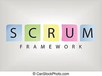 desenvolvimento, ágil, software, scrum, estrutura