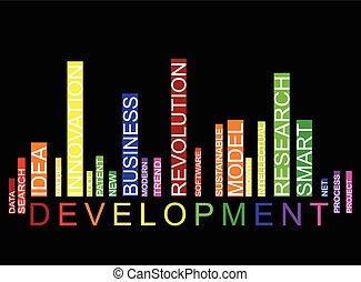 desenvolvimento, barcode, fundo