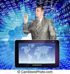 desenvolvimento, newest, telecomunicação, amplo,...