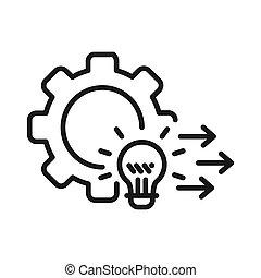 desenvolvimento, solução, ilustração, desenho