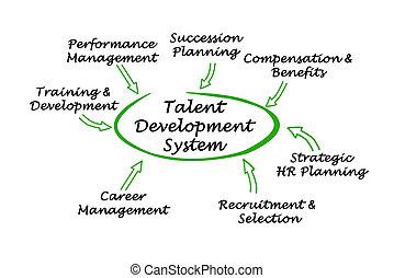 desenvolvimento, talento, sistema