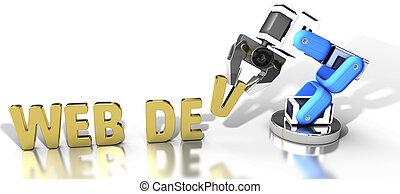 desenvolvimento, teia, tecnologia, robotic