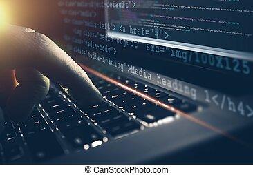 desenvolvimento web, trabalho, conceito