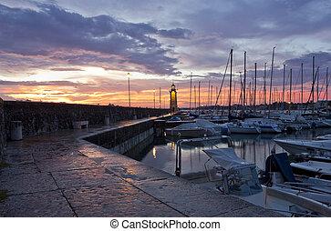 Desenzano Del Garda Marina waterfront and the Lighthouse