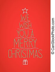 deseo, nosotros, usted, feliz navidad